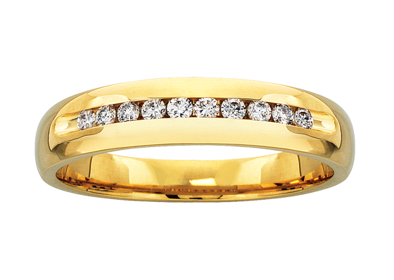 gold bands our hallmarked made flat band of uk wedding with collection yellow this shaped rings profile traditional i ring
